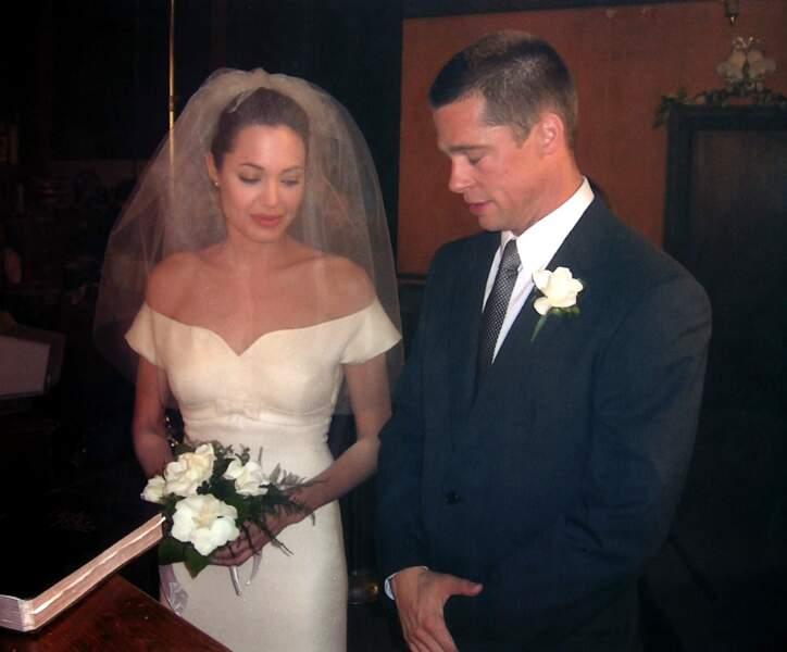 Tournage de Mr et Mme Smith avec Brad Pitt et Angelina Jolie le 10 juin 2005 à Pasadena