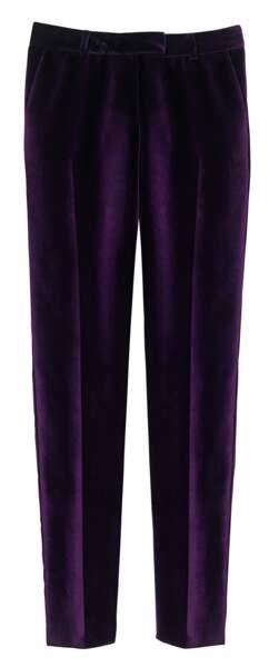 Pantalon en coton velours, 490 €, Longchamp.