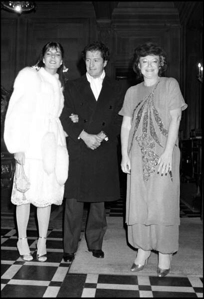 Caroline de Monaco et son premier mari Philippe Junot, au côté de Régine, en mars 1980
