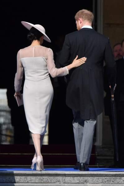 Harry et Meghan à la garden party pour les 70 ans du prince Charles au palais de Buckingham le 22 mai 2018
