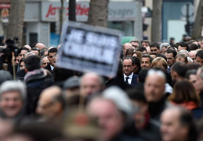 François Hollande dans la foule #jesuischarlie