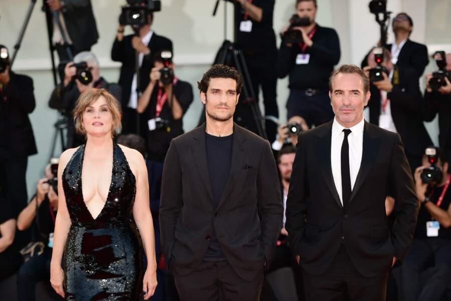 Jean Dujardin a également pris la pose aux côtés de Louis Garrel et Emmanuelle Seigner