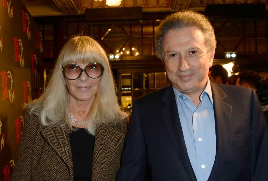 Dany Saval et son mari Michel Drucker au théâtre Mogador à Paris le 20 mars 2014