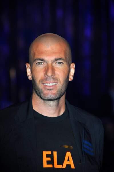Zinédine Zidane lors du prix ambassadeur ELA au Musée du Quai Branly à Paris en 2011