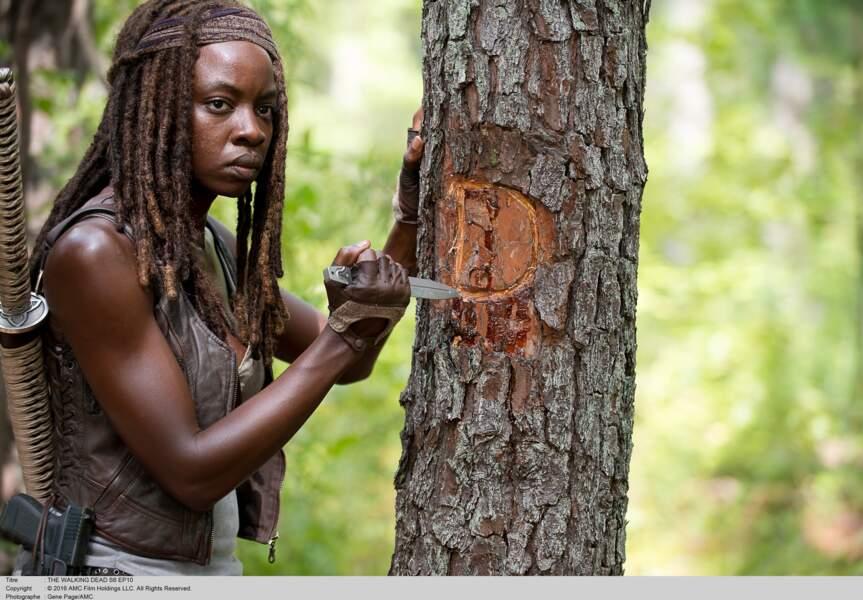 """Danai Gurira, alias Michonne, dans la série """"The Walking Dead"""""""
