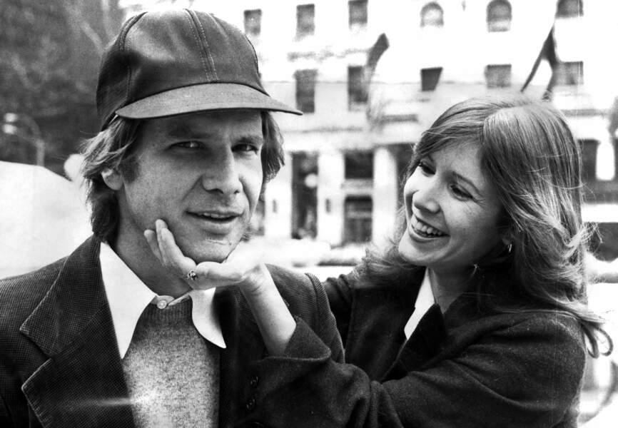 Carrie Fisher et Harrison Ford en pleine promo à New York en 1982