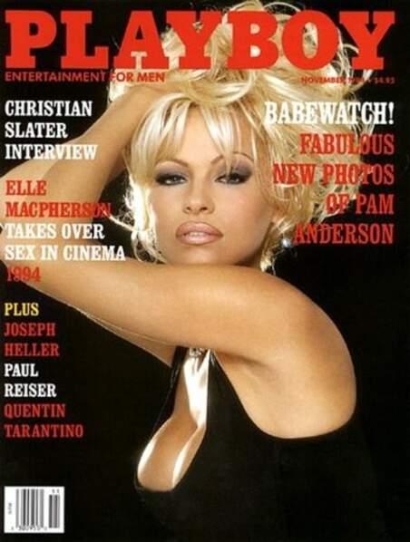 Et en 1994, Pamela Anderson offre un de ses unes les plus sages à Playboy