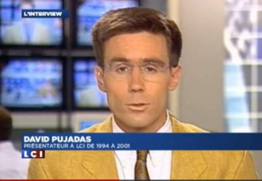 David Pujadas présentateur sur LCI de 1994 à 2001