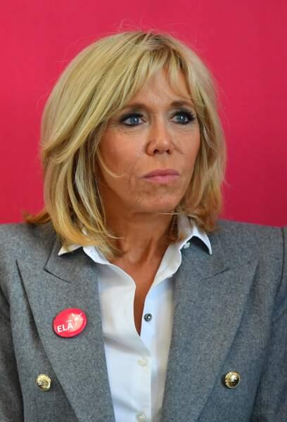Brigitte Macron fière ambassadrice d'Ela pour l'opération Mets tes baskets et combats la maladie !