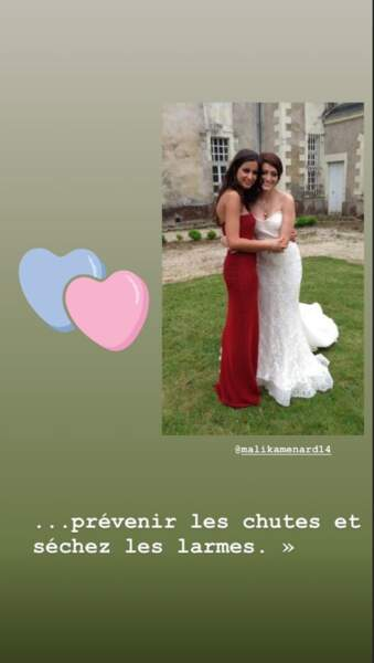 Malika Ménard était également présente au mariage de Rachel Legrain-Trapani, qui s'est terminé depuis