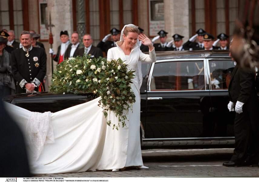Mariage de Philippe et Mathilde de Belgique le 3 décembre 1999 à Bruxelles