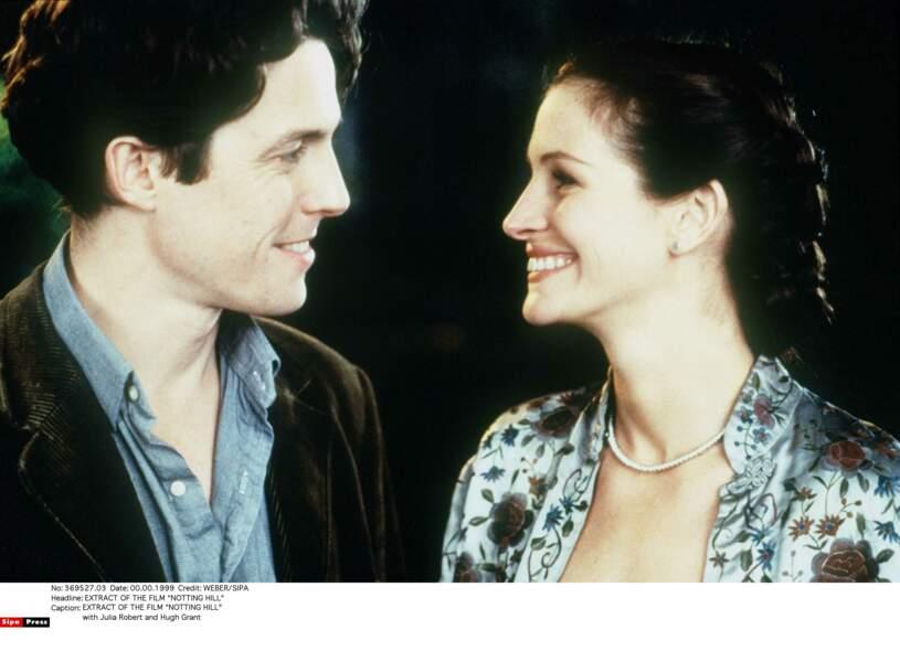 """Elle partage l'affiche avec Hugh Grant dans la comédie romantique """"Coup de Foudre à Notting Hill"""", en 1999"""