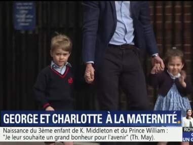 PHOTOS – George et Charlotte arrivent à la maternité après la naissance du troisième royal baby