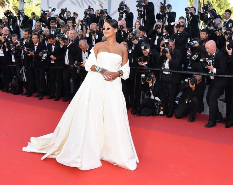 Rihanna en Dior Couture, bijoux Chopard