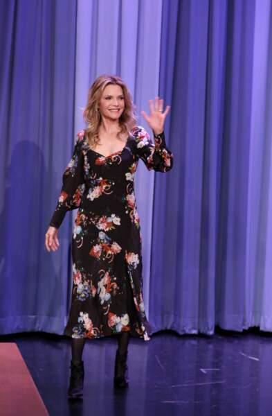 Michelle Pfeiffer lors de l'enregistrement du Tonight Show le 11 Mai 2017 à New York