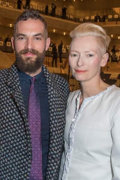 Tilda Swinton (57 ans) et son conjoint, le peintre Sandro Kopp (40 ans)