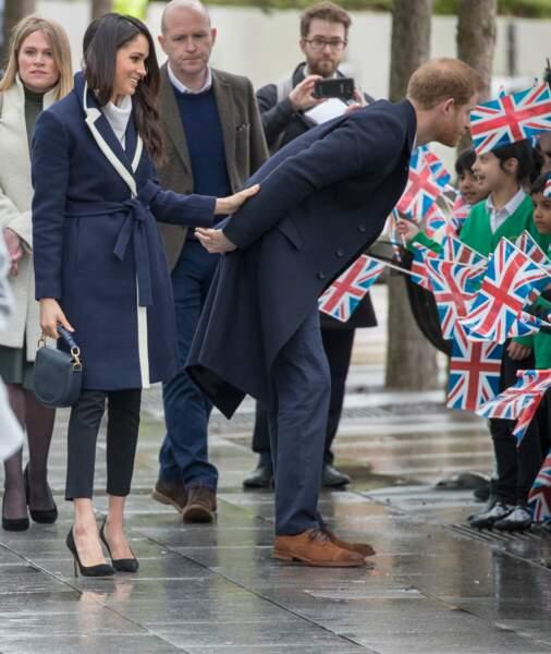 Le prince Harry et sa fiancée Meghan Markle effectuent leur première visite royale à Birmingham le 8 mars 2018