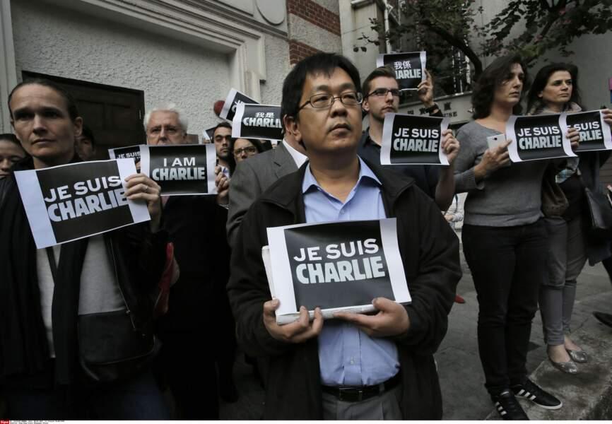 Soutien à Charlie Hebdo à Paris