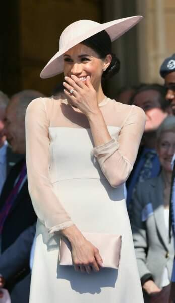 Meghan Markle, duchesse de Sussex, en robe Goat Fashion