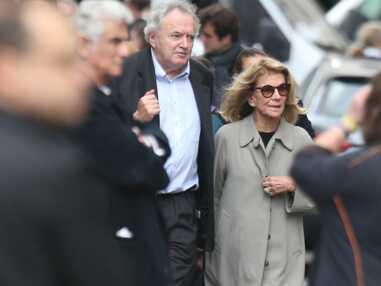 Nicole Garcia et son fils Pierre Rochefort très émus aux obsèques de Jean Rochefort