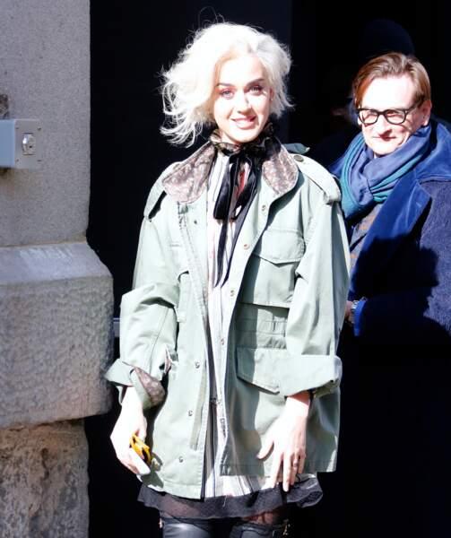 katy Perry arrive au défilé Marc Jacobs pour le dernier jour de la Fashion Week de New York