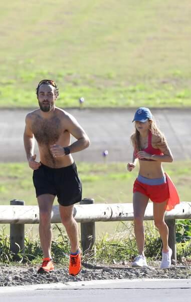 James Middleton et sa nouvelle petite amie, en plein effort sous le soleil de Saint-Barthélémy, le 30 décembre 2018