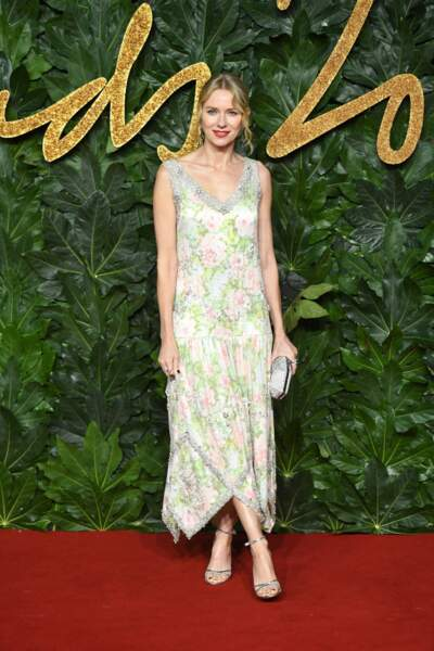 Naomi Watts (50 ans), à la soirée des British Fashion Awards à Londres, en 2018