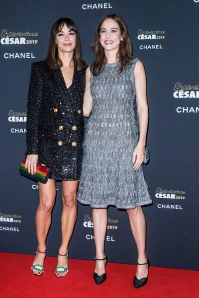 Bérénice Bejo et Matilda Lutz toutes en strass à la soirée des révélations des Césars.