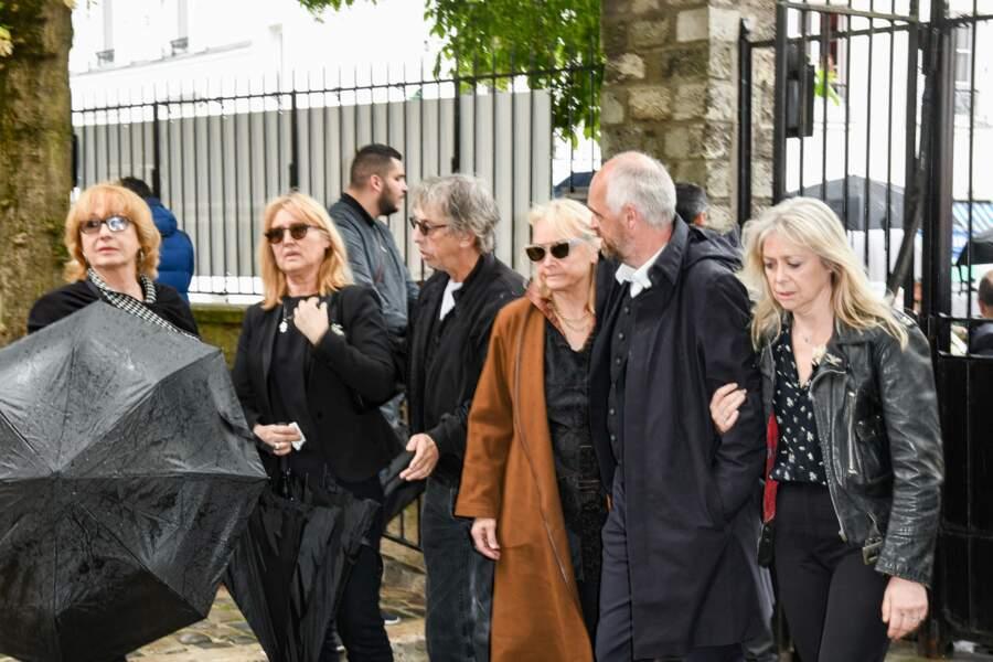Babette, la femme de Dick Rivers, Pascal Forneri, le fils de Dick Rivers et Micheline Davis, Natala, la fille de Di
