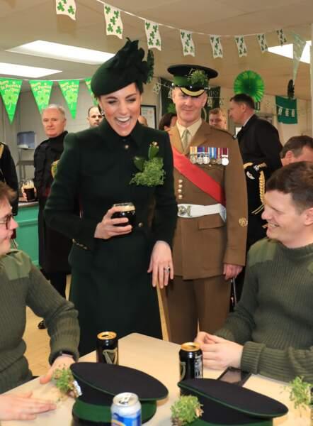 Pour la St Patrick, Kate Middleton a trinqué à la Guinness !