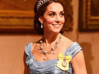 Kate Middleton très amincie dans une robe de bal bleue, les clichés qui interrogent