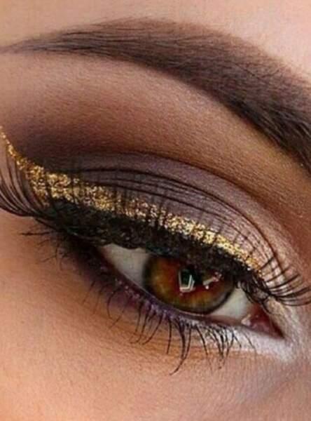 Un make-up chocolat-gold