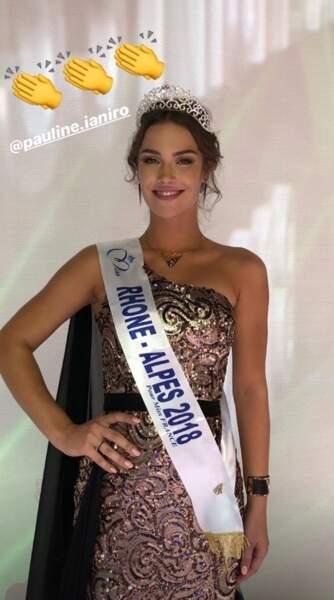 Pauline Ianiro, 19 ans, a été sacrée Miss Rhône-Alpes et tentera de devenir Miss France 2019