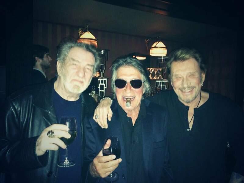 Eddy Mitchell, Jacques Dutronc et Johnny Hallyday en Janvier 2014
