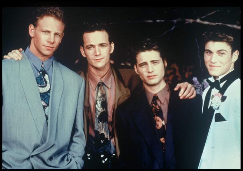 Luke Perry, Jason Priestley, Ian Zieringet Brian Green