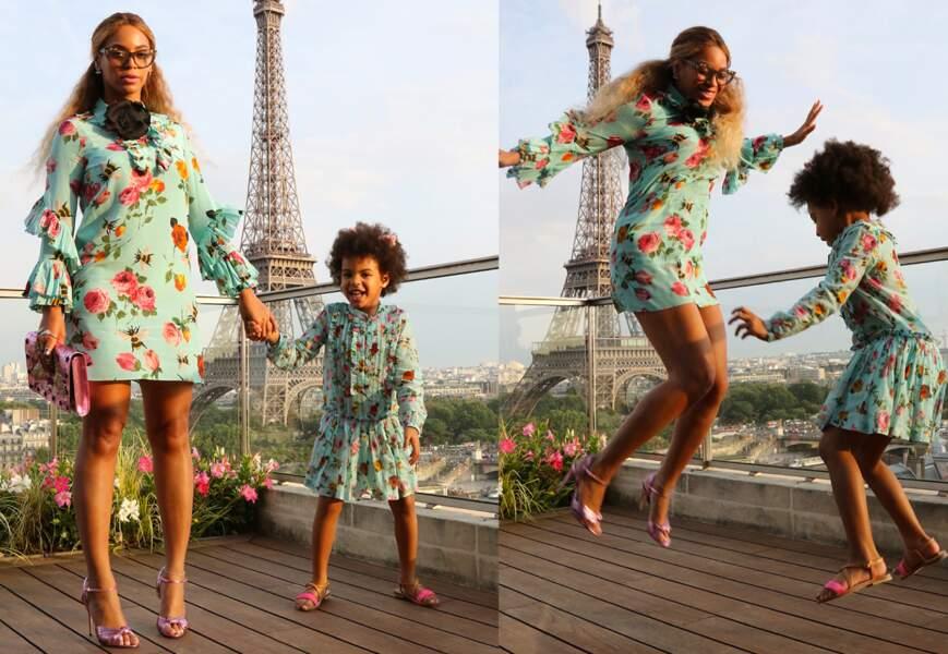 Beyoncé et Blue Ivy, de vraies parisiennes d'adoption