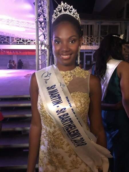 Alisson Georges, 18 ans a été sacrée Miss Saint-Martin et Saint-Barthélémy et tentera de devenir Miss France 2019