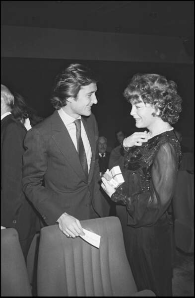 """Romy Schneider et Daniel Biasini à la première du film """"Tess"""" à Paris en 1979"""