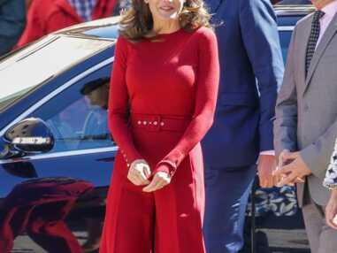 PHOTOS - Letizia d'Espagne fait sensation avec un total look rouge Hugo Boss