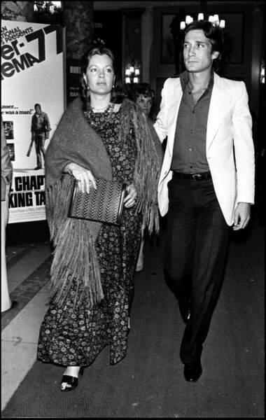 Romy Schneider et Daniel Biasini au Festival de Cannes en 1977