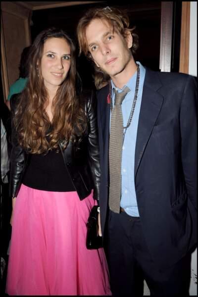 Le couple en soirée au Royal Monceau à Paris.