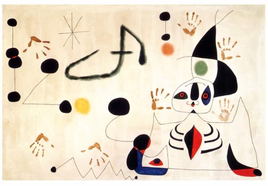 Joan Miro, Femme dans la nuit, 1945
