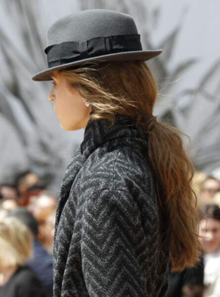 La queue basse bohème au défilé Christian Dior Fall/Winter 2017-2018