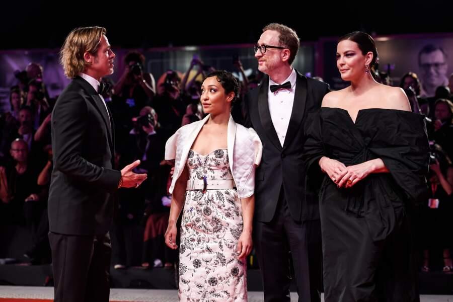 """Brad Pitt, Ruth Negga, James Gray et Liv Tyler à la première du film """"Ad Astra"""" lors 76ème festival du film de Veni"""