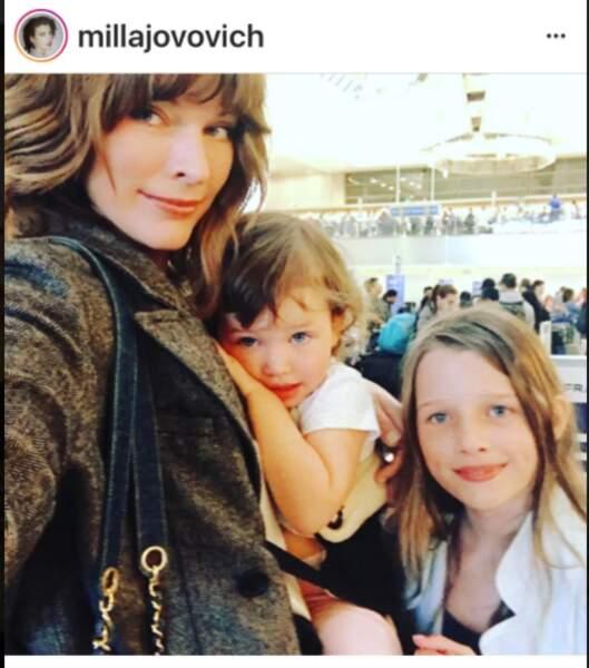 Milla Jovovich et ses filles, Ever Gabo et Dashiel Edan