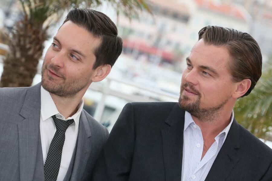Leonardo DiCaprio et Tobey Maguire au Festival de Cannes en 2013