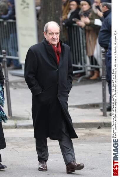 Pierre Lescure aux obsèques de France Gall au cimetière de Montmartre à Paris le 12 janvier 2018