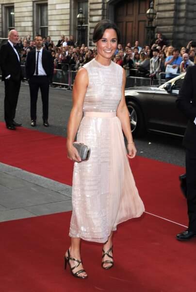 Pippa Middleton à la soirée GQ Men of the Year Awards à Londres, le 2 septembre 2014.
