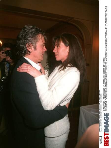 Alain Delon et Rosalie Delon