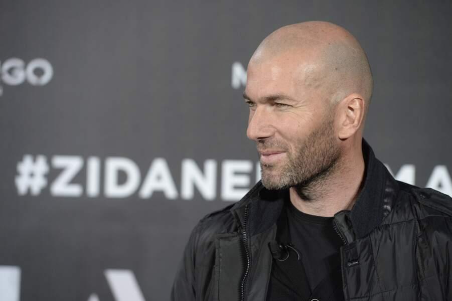 Zinédine Zidane lors d'un photocall en tant que nouvelle égérie de la marque Mango à Madrid, le 19 janvier 2015
